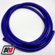 Blue Silicone Vacuum Pipe 3 Metres Length 6mm Bore Thick Wall Construction